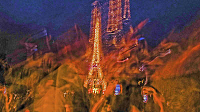 Photograph - Eiffel On Bastille Day Abstract by Tony Grider