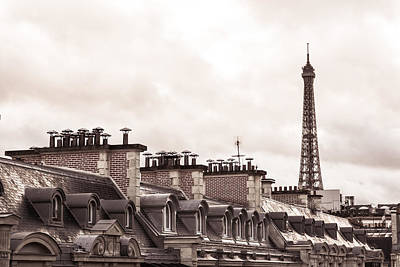 Paris Skyline Royalty-Free and Rights-Managed Images - Eiffel Skyline by Christina Zizzo