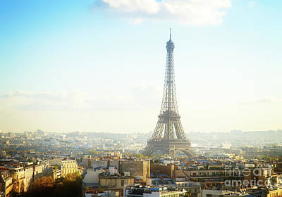 Paris Skyline Royalty-Free and Rights-Managed Images - Eiffel Tour and Paris Roofs by Anastasy Yarmolovich