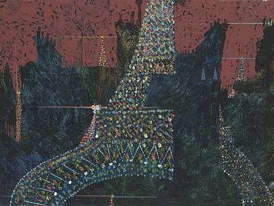 Painting - Eiffel Tour Everywhere No. 2 by Jerry W McDaniel