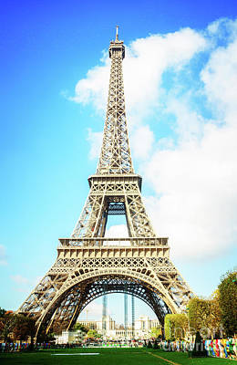 Photograph - Eiffel Tower Portrait by Anastasy Yarmolovich