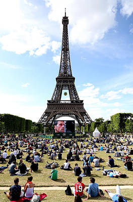 Roland Garros Photograph - Eiffel Tower 14 by Andrew Fare