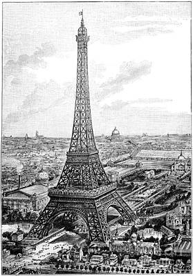 Photograph - Eiffel Tower, 1889 Universal Exposition by Spl