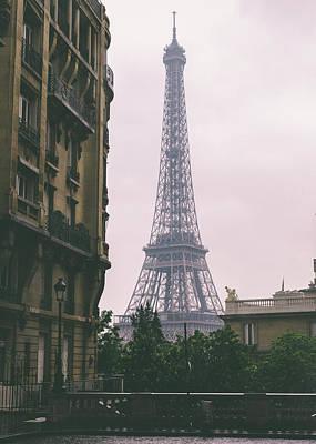 Photograph - Eiffel Tower And Parisian Haussmann-style Building by Alexandre Rotenberg