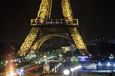 Traffic Light Photograph - Eiffel Tower by Andrew Soundarajan