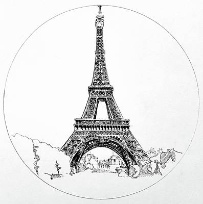 Drawing - Eiffel Tower by Anthony Brooks