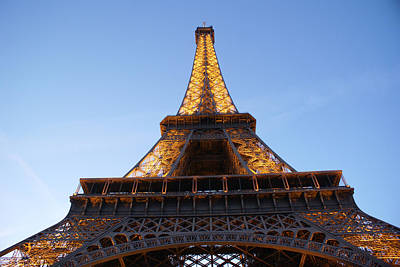 Tower Photograph - Eiffel Tower At Dusk by Leonard Rosenfield