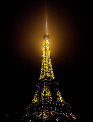 Photograph - Eiffel Tower At Night by Alexis Lee Scott