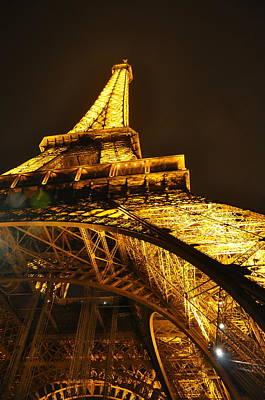 Photograph - Eiffel Tower At Night by Caroline Reyes-Loughrey