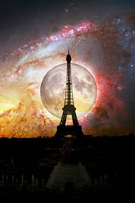 Photograph - Eiffel Tower At Night by Debra and Dave Vanderlaan