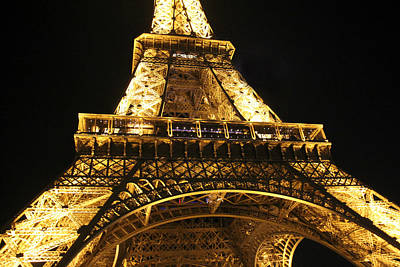 Photograph - Eiffel Tower At Night by Katie Wing Vigil