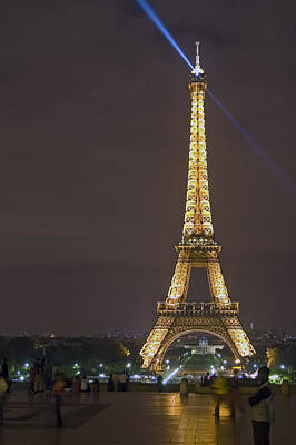 Photograph - Eiffel Tower At Night by Mark Harrington