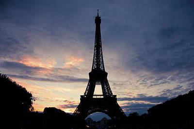 Eiffel Tower At Sunset, Paris, France Art Print