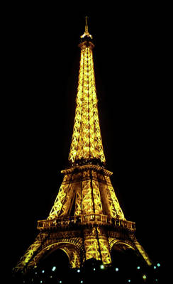 Paris Skyline Royalty-Free and Rights-Managed Images - Eiffel Tower  by Athena Mckinzie