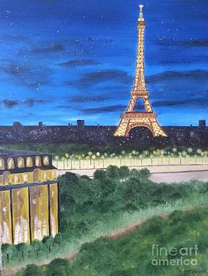 Painting - Eiffel Tower by Bev Conover