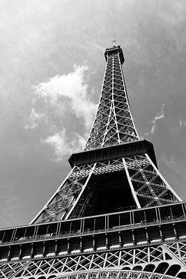 Mauverneen Blevins Photograph - Eiffel Tower - Black And White by Mauverneen Blevins