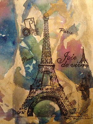 Image Transfer Mixed Media - Eiffel Tower by Buff Holtman
