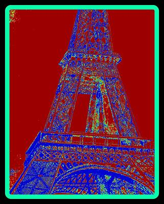 Paris Skyline Drawings - Eiffel Tower Carnival by Irving Starr