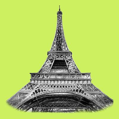 Royalty-Free and Rights-Managed Images - Eiffel Tower Design by Irina Sztukowski