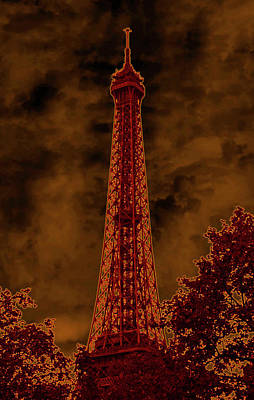 Beastie Boys - Eiffel Tower Detail I Neon Glow Paris France by Sally Rockefeller