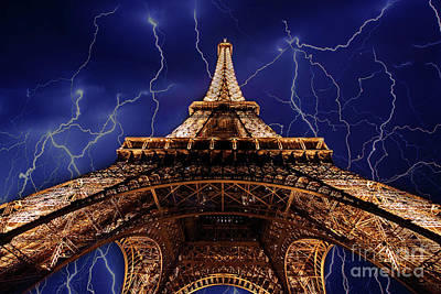 Photograph - Eiffel Tower - Doc Braham - All Rights Reserved by Doc Braham
