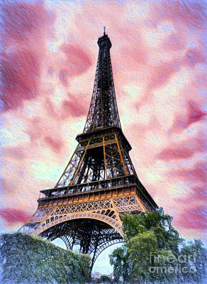 Photograph - Eiffel Tower Dream by Mel Steinhauer
