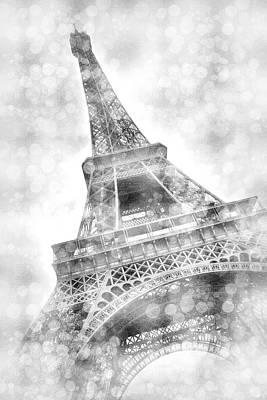 Photograph - Eiffel Tower Dreamily - Silver  by Melanie Viola