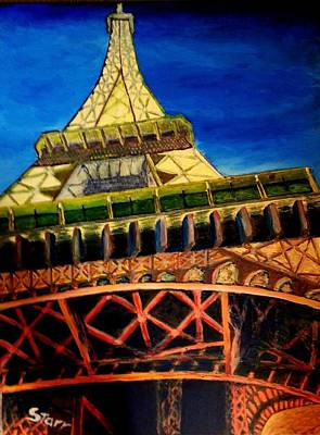 Most Popular Painting - Eiffel Tower Dreaming by Irving Starr