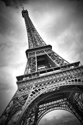 Steel Photograph - Eiffel Tower Dynamic by Melanie Viola