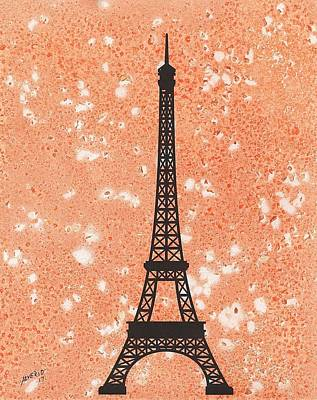 Painting - Eiffel Tower  by Edwin Alverio