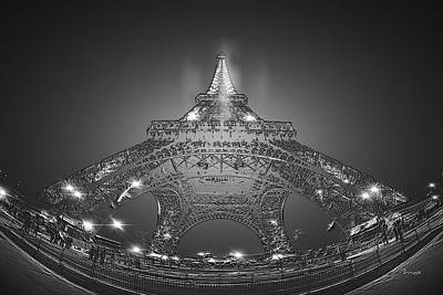 Painting - Eiffel Tower Etched by Mark Taylor