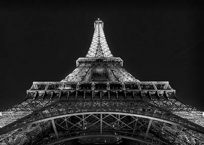 Paris Skyline Royalty-Free and Rights-Managed Images - Eiffel Tower Evening - #1 by Stephen Stookey