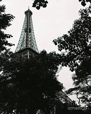 Photograph - Eiffel Tower Fine Art Photograph Black And White Landscape Print Home Decor Office Wall Decor by Tim Hovde