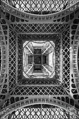 Photograph - Eiffel Tower From Below by Delphimages Photo Creations
