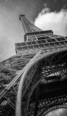 Photograph - Eiffel Tower From Below II Bw by Joan Carroll