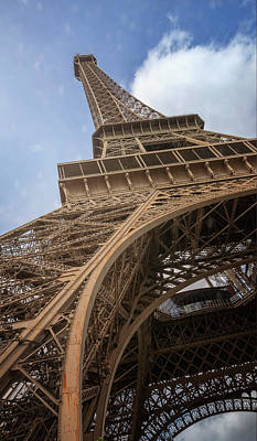 Photograph - Eiffel Tower From Below II by Joan Carroll