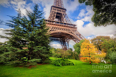 Photograph - Eiffel Tower From Champ De Mars Park In Paris, France by Michal Bednarek