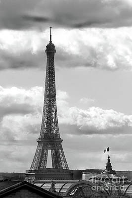 Photograph - Eiffel Tower From Galeries Lafayette Rooftop by D Renee Wilson
