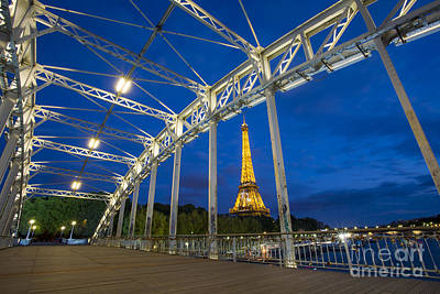 Photograph - Eiffel Tower From Passerelle Debilly - Paris by Brian Jannsen
