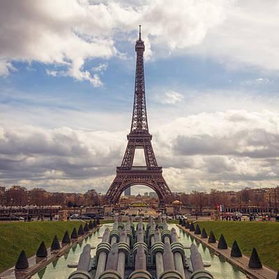 Trocadero Photograph - Eiffel Tower From Trocadero by Joan Carroll