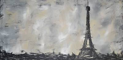 Painting - Eiffel Tower by Holly Donohoe