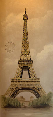 Eiffel Tower Art Print by Holly Whiting
