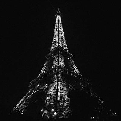 Eiffel Tower Illumination Art Print