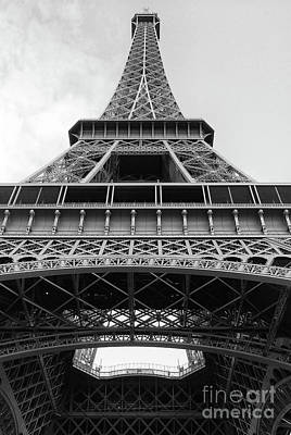 Photograph - Eiffel Tower In Black And White by Ivy Ho