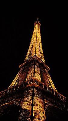 Eiffel Tower In The Night Art Print
