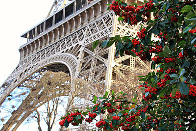 Photograph - Eiffel Tower In Winter by Katie Wing Vigil