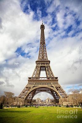 Eiffel Tower Print by Jane Rix