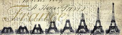 Vintage Eiffel Tower Photograph - Eiffel Tower by Jon Neidert