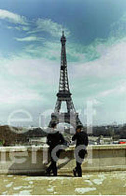 Photograph - Eiffel Tower - La Tour Eiffe, Paris, France 1978 by California Views Mr Pat Hathaway Archives
