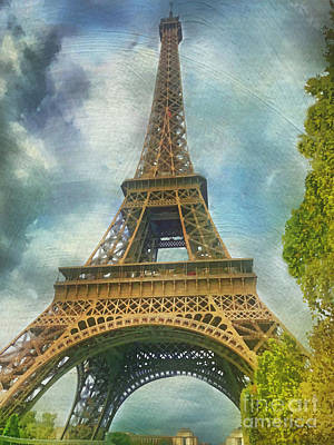 Painting - Eiffel Tower - La Tour Eiffel by Judy Palkimas